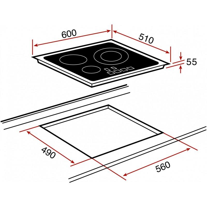 Стъклокерамичен индукционен плот за вграждане Teka IRS 631